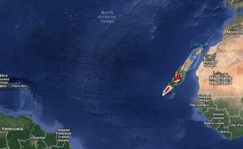 PÅ VEI: ARC+-seilerne har nå gjennomført nesten 1/3 av turen over til Karibia.