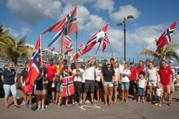 NORSKE: 15 båter ligger i Las Palmas, klare for ARC som starter på søndag. Fem har alt startet. Disse seiler ARC+