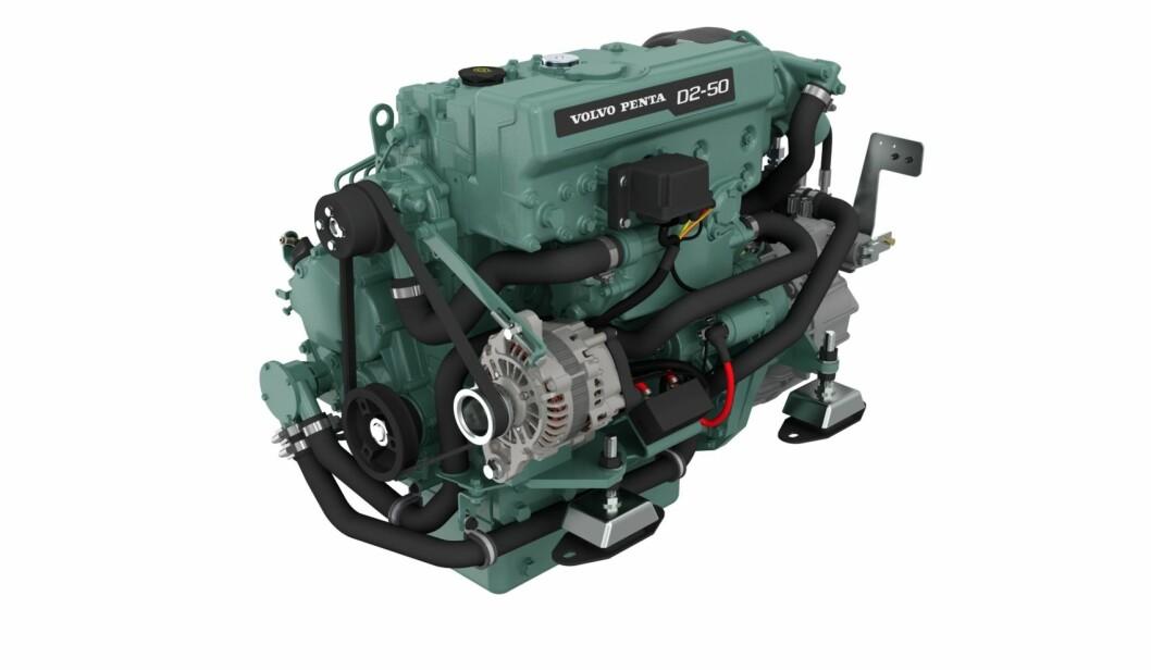 GRØNN: Volvo Penta lanserer to nye motorer som erstatter D2-55