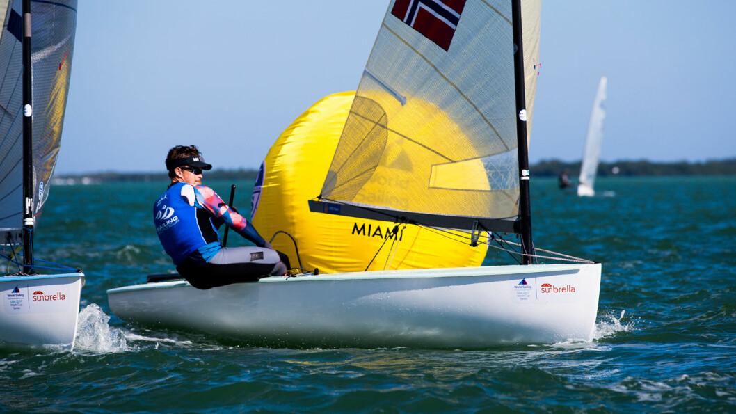 4. PLASS: Anders Pedersen ligger på 4. plass etter første dag i verdenscupen i Miami i USA.
