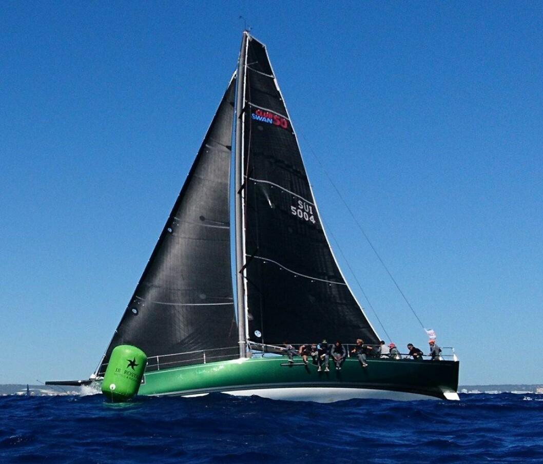 «MATHILDE»: Nordmannen Morten Kielland leder i ClubSwan 50-klassen på Palma, Mallorca.