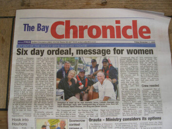Helvedes seilas fra Tonga til New Zealand