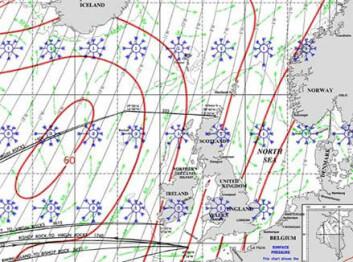 Typisk for nord-Atlanteren i februar