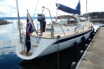 STRØKEN: Den 20 år gamle båten har seilt en distanse tilsvarende 8 ganger rundt jorda. Båten har vært på verft og fått sitt andre løft siden den var ny.