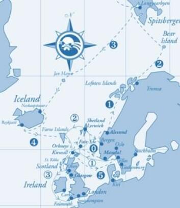 RUTE: «Mahina Tiare III» Skal seile til Svalbard i sommer. Det er Johns tredje tur dit.