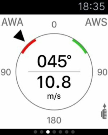 DATA: Med iSailor kan du få vinddata på armen.