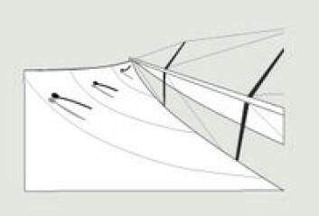 ØVERSTE LUS I LO: Øverste lus på lo side blafrer. Det er et signal om at seilet tvister for mye. Skjøtpunktet bør flyttes forover, og skjøtet justeres etterfølgende. I mye vind kan dette være god ...