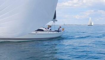 LITEN: toXifia var en av båtene langt fremme syd for Færder.