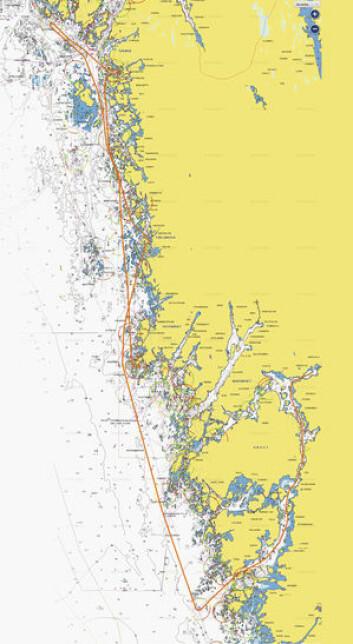 LANGT: Bohusracet går langs Bohuslän uten pitstop. Seilasen var rask i år, til tross treg start, og ble gjennomført på 29 timer.