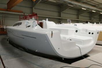 34: Dehler 34 er snart ferdig, og skal vises på utstillinger til høsten. Båten blir ikke like like ekstrem som Xp 33.