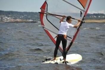 RS:X: Jakob Ruud ble beste RS:X seiler i helgen. Bildet er tatt i forbindelse med trening i sommer.