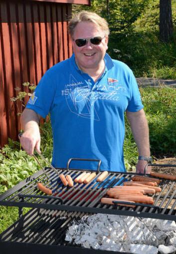 MAT: Hans-Arild Boge-Fredriksen kan bidra til å stoppe sulten på de som vil forsøke seg på Nesøya.