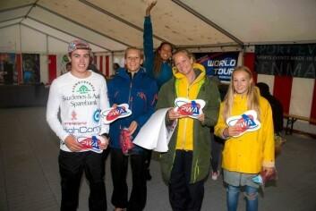 NORSKE: Martin, Oda Johanne, Miriam og Helle klare for PWA World Cup.