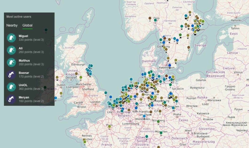 DATA: EyeOnWater er et prosjekt støttet av EU-midler. Idden er å analysere vannet ved hjelp av en app. Den er alt blitt att i bruk, også i Norge.