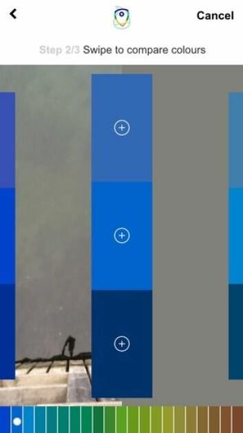 LEANGBUKTA: Appen testet denne uken i Asker. Vannet inneholder alger, sedimenter og organisk materie.
