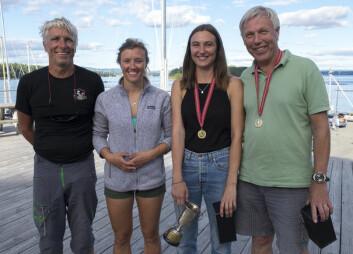 FAMILIE: Morten Jensen og Henrik Nore seiler med hver sin datter i Mesterens Mester hvor 21 norgesmestere møter fire «Wildcard» for å se hvem som er beste seiler i Norge.
