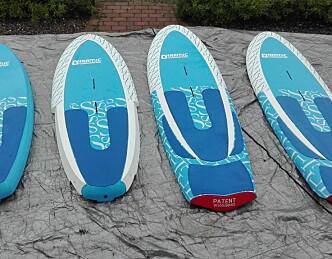 Tre ulike seilbrett i ett