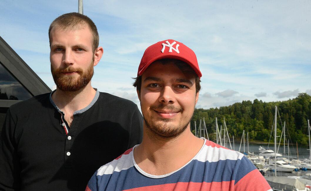 KLARE: André Sollund og Erik Andreas Nyvoll vil heller oppleve Norge enn varme strøk.