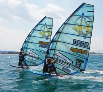 MEMBRAN: Avanti Sails er den eneste som bruker støpte seil med fiber, tilsvarende 3dl. De fleste windsufingseil er laget kun av en tykkere film, uten fiber.