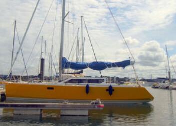 FUNNET: «Red Héol» er en 11,5 meter lang Largo 38, konstruert av Pierre Rolland.