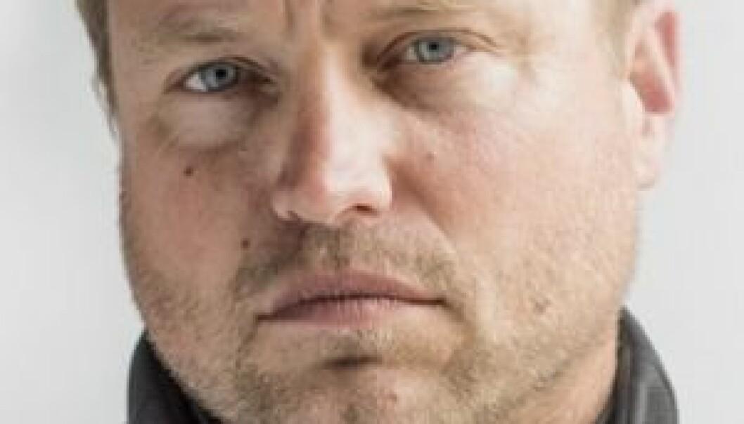 Gir seg: Alex Thomson bryter Vendee Globe med rorskade.