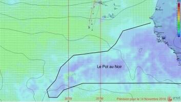 STILLEBELTET: Det er vanligvis enklere å komme gjennom området mellom passatvinden i nord og i syd mot vest. Thomson forsøker lengre øst enn sine konkurrenter.