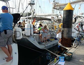 Barnefamilie reddet fra tysk ARC-båt