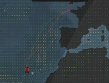30KNOP: «IDEC» er på breddegrad med Kanariøyene, og vil i løpet av dagen seile seg foran rekordskjemaet til Peyron.