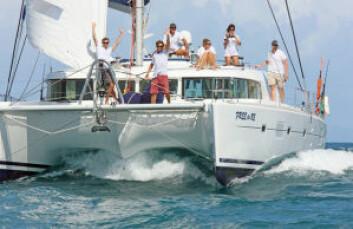 KATAMARAN: «Opptur» har krysset Atlanterhavet mange ganger. Bildet fra ARC 2008