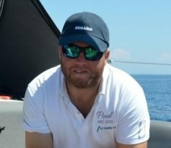 HELT: Fredrik Olsson kom «Lady Nor» til unnsetning. Han var også med på å fikse til et nødror slik at «Lady Nor» kunne seile videre.