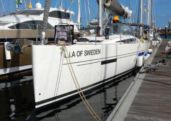 MORE55: «L.I.A of Sweden» var første More 55 som kom å hjalp til. Det deltar fem slike båter under ARC.