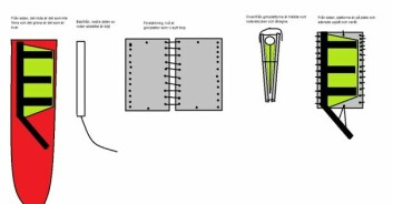SKISSE: Slik ble dørkplatene montert som nødror på restene av roret som var brukket.