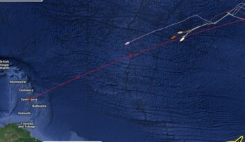 HALVEIS. Fire av More 55 båtene seiler samlet inn mot St. Lucia.