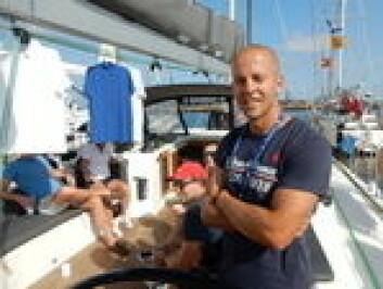 SKIPPER: Staffan Andren har ansvaret på Ms. Robinson. Målet er å være først av More 55 båtene i Karibia. 15 dager er et realistisk mål.