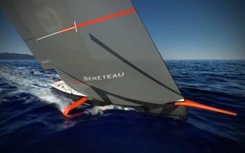 STABILITET: Foilene står opp-ned. Jo mer båten krenger, jo mer løft vil foilene gi.