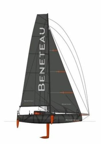 EKSTREM: Båten veier bare 2900 kilo, men har nesten 150 kvadratmeter seil på slør.