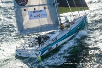 MED: Colman i «Foresight Natural Energy» ligger på 17. plass etter 28 døgns seiling.