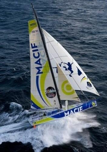 RASK: Rekorden til Francois Gabart i «Macif» har falt. Spørsmålet er om rekorden rundt jorda kan bli en uke raskere.