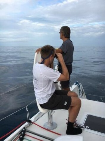 STILLE: Det har vært mange vindhull for ARC-seilerne, også for »Nemo»
