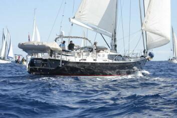 START: Geir Magne og Tonje Lise Årvik har holdt høy fart over Atlanterhavet.