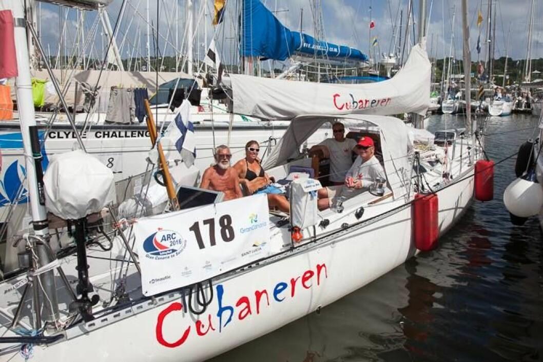 KILE: «Cubaneren» blir brukt som kile mellom de største båtene for å utnytte havnen maksimalt.