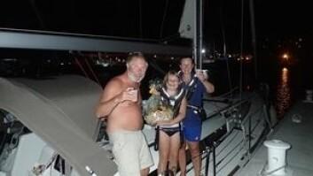 BARN: Erik-Andre og Hilde Olsen krysset Atlanteren på 22 døgn med sin datter Tea Elvira på 11 år.