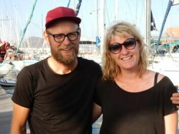 BARE TO: Jakob Slettevold og Eirin Bråten Nygård delte natten i vakter, og seilte sammen på dagen.