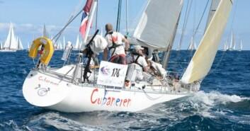 RASK: «Cubaneren» var først over linja under starten av ARC, og ble nummer 11 over-all. Skipper Karl Otto Book har utstyrt båten med regattaseil.