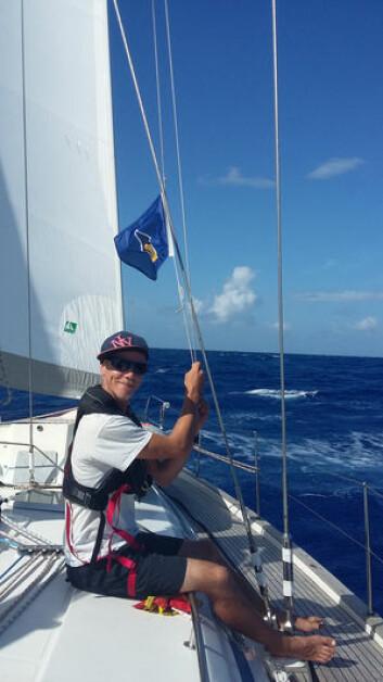 SKIPPER: Erik Welin-Larsen mener at november er for tidlig for å krysse Atlanterhavet.