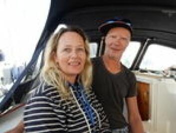 LANGTURSEILERE: Erik Welin-Larsen og Tina Bringlimark ahr bodd i båten i lengre tid før avreisen.