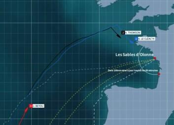 NORDFRA: Armel ventet lengs mulig med å slå sørøstover mot mål. Han har full kontroll på engelskmannen. Thomson slo en time senere i natt.