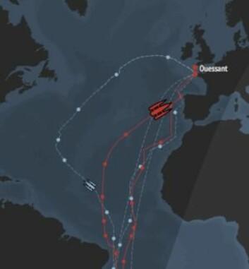 SNARVEI: Vindforholdene har vært fordelaktig i Nord Atlanteren. Det har gitt en gunstigere kurs.