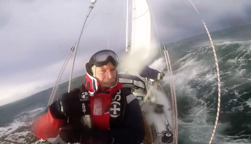 Skal krysse Nordsjøen i kuling
