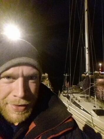 FREMME: Erik Aanderaa kom til Shetland etter 32 timer i kuling og brytende bølger i Nordsjøen.